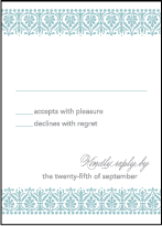 Wisteria Letterpress Reply Design Small