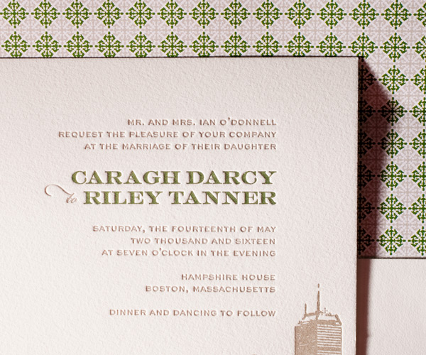 letterpress wedding invitations charmed boston design bella figura