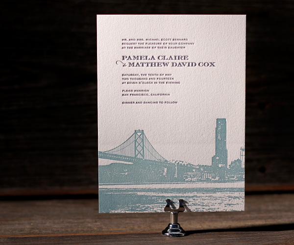 letterpress wedding invitations charmed san francisco With letterpress wedding invitations san francisco