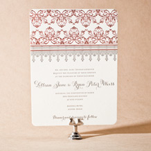 Nouveau Letterpress Invitation Design Small
