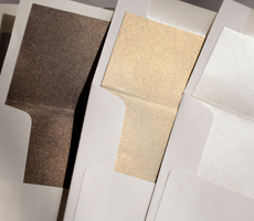 Custom Metallic Envelope Liners