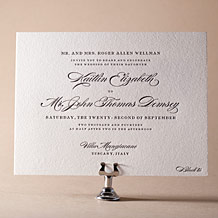 Deveril Letterpress Invitation Design Small