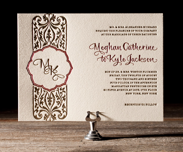 Elegant Monogram Wedding Invitations: 301 Moved Permanently